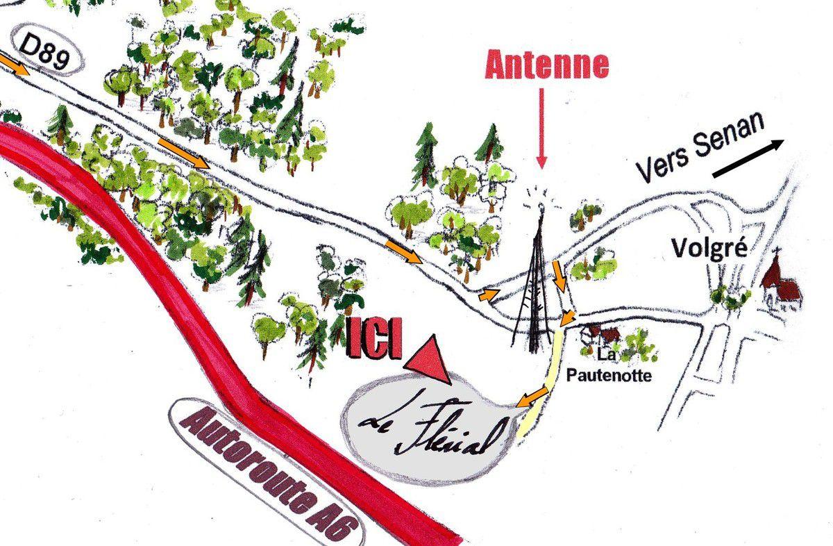 Accès vraiment facile quelle que soit la route. Les 250 derniers mètres se font par un chemin parfaitement carrossable.