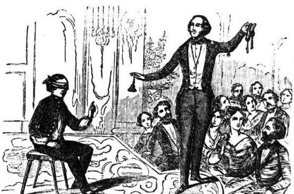 La double vue, tour de magie de Robert-Houdin au théâtre Robert-Houdin