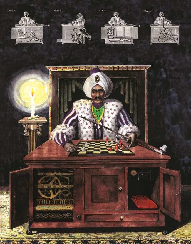 Le fameux automate joueur d'échecs du baron Von Kempelen