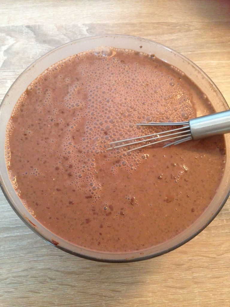 Une fois mélanger on dirait un bon chocolat chaud ^^