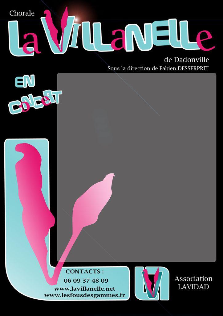 Exemple d'Affiche format A3 pour nos futurs concerts !