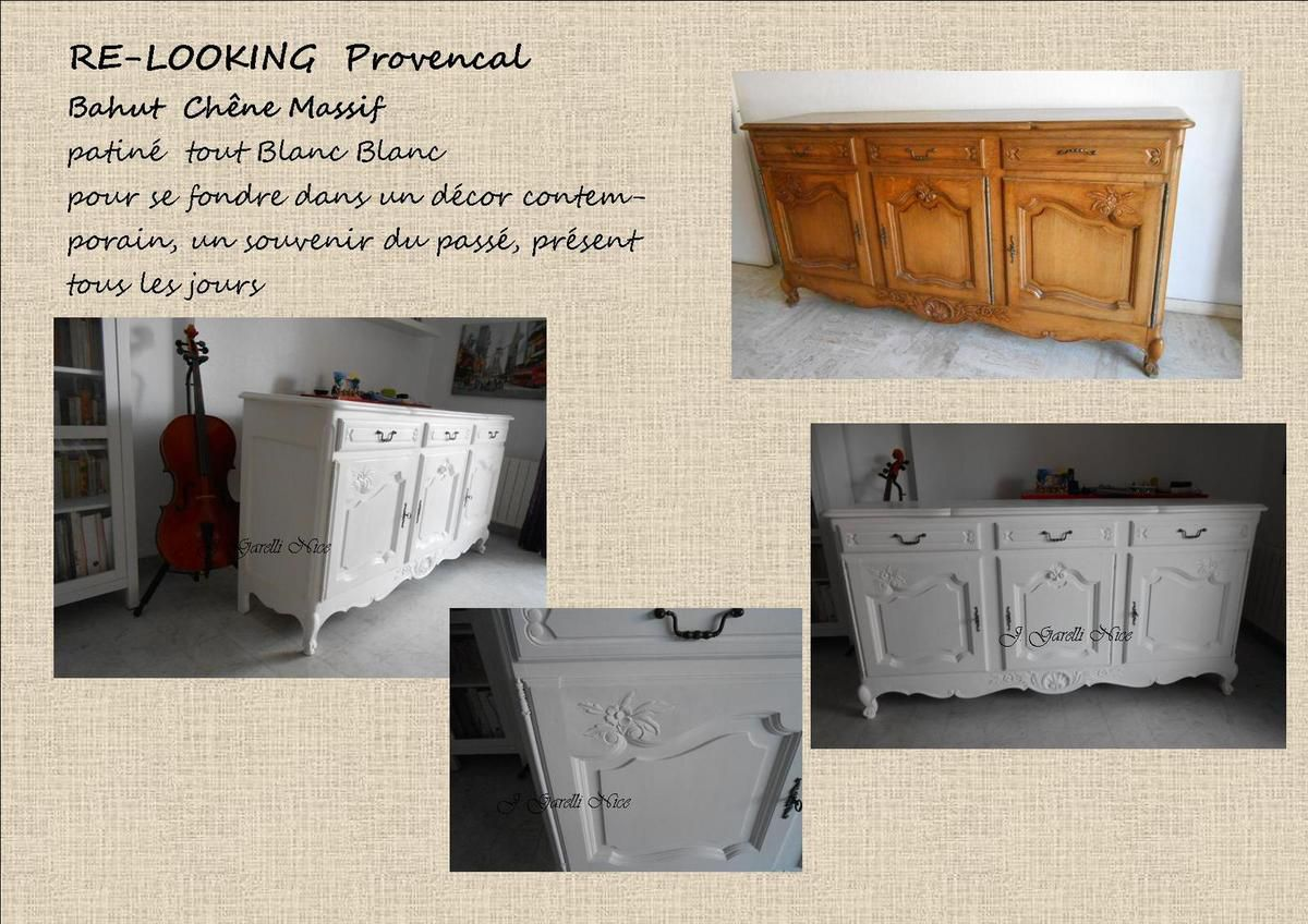 RELOOKING  PATINE BAHUT PROVENCAL