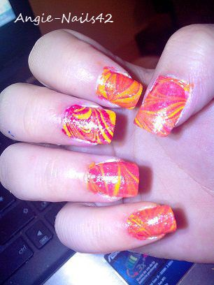 deco ongle water marble