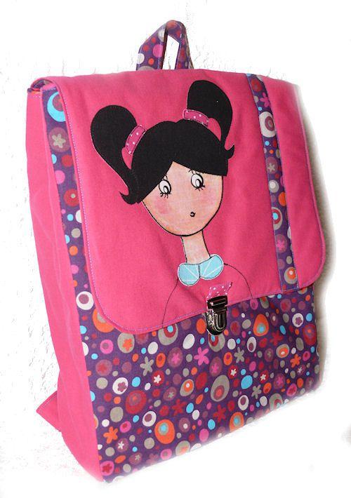 sac dos pour la maternelle la cr che les ateliers de lune. Black Bedroom Furniture Sets. Home Design Ideas