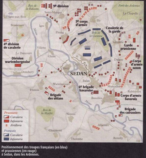 Cliquer pour lire les détails de la bataille de Sedan en 1870