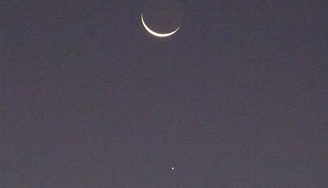 La Lune et Jupiter ce matin vers 7h00
