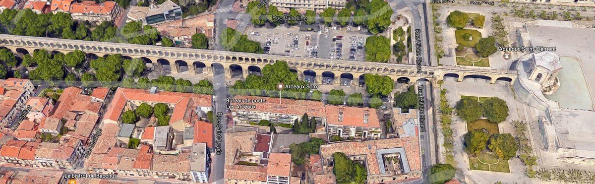 Aqueduc Saint Clément à Montpellier avant et aprés
