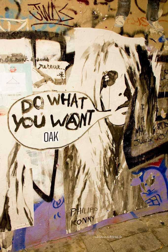 Wall urban art