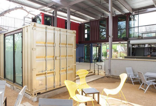 Container shipping interior