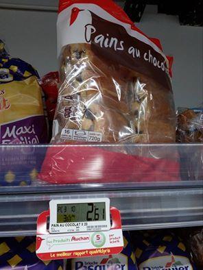 Jean-François Coppé a raison, les pains au chocolat valent 16 centimes à Auchan...