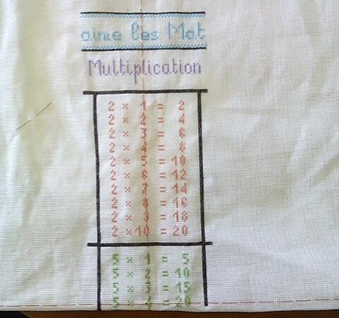 Sal les tables de multiplications etape 2