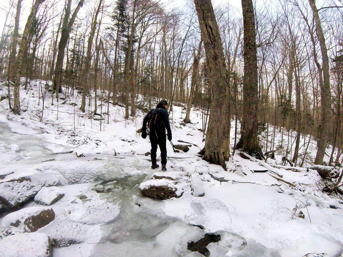 Ascension glacée dans les Adirondacks : Porter &amp&#x3B; Cascade Mountains