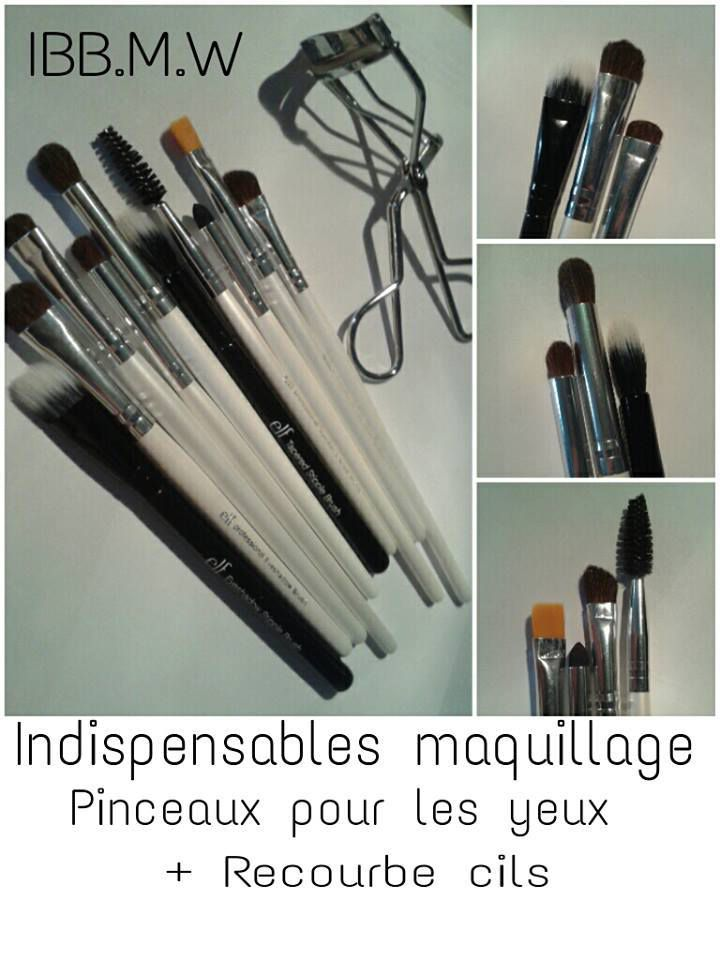 Pinceaux indispensables en maquillage