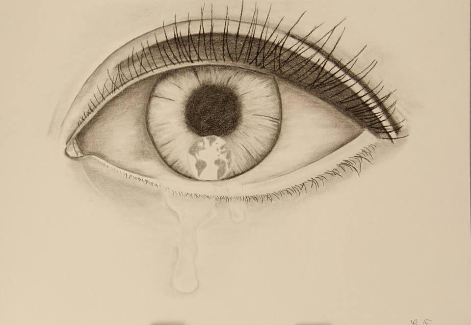 Une larme...