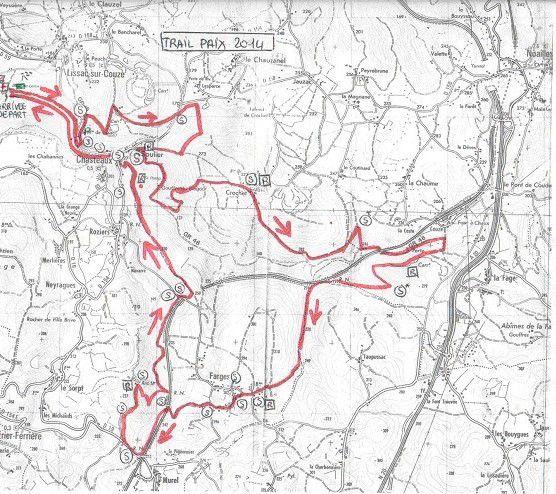 Le parcours du trail 2014