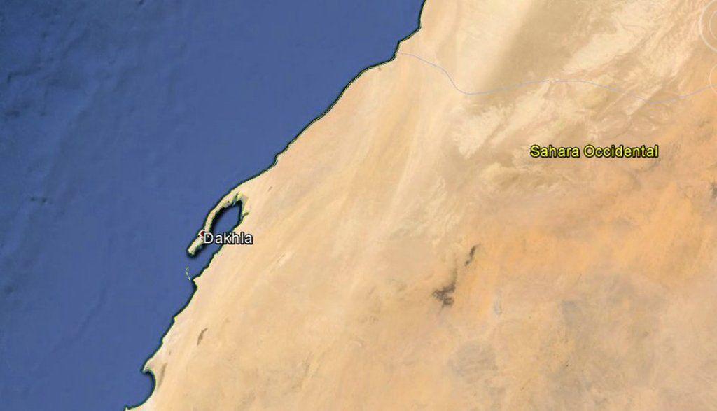 Quand le Sahara se jette dans l'Atlantique.