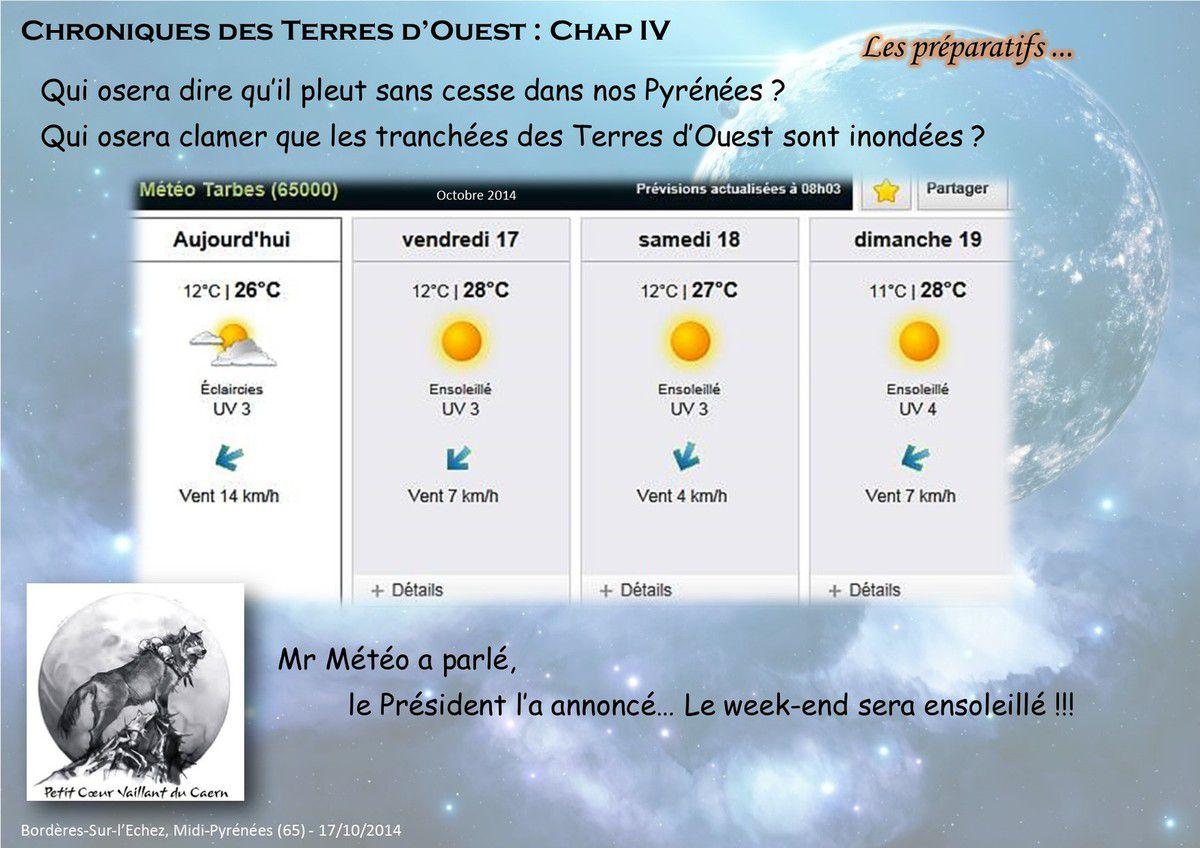 Les prévisions météo...