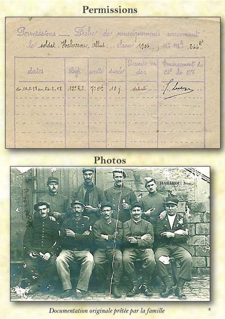 Correspondances Famille HABAROU