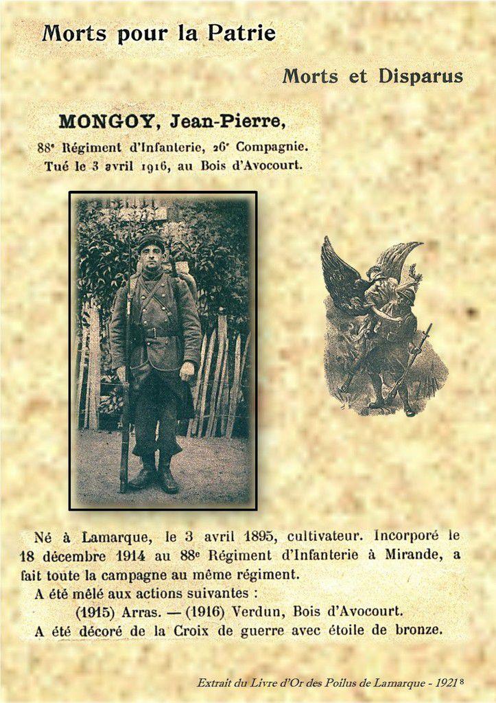 Souvenir de nos Poilus Lamarquais (2)...
