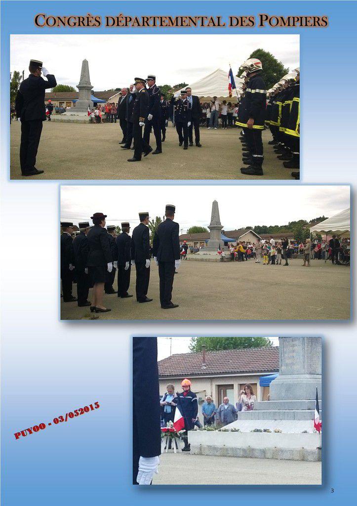 Congrès départemental des Sapeurs-Pompiers... PUYOO
