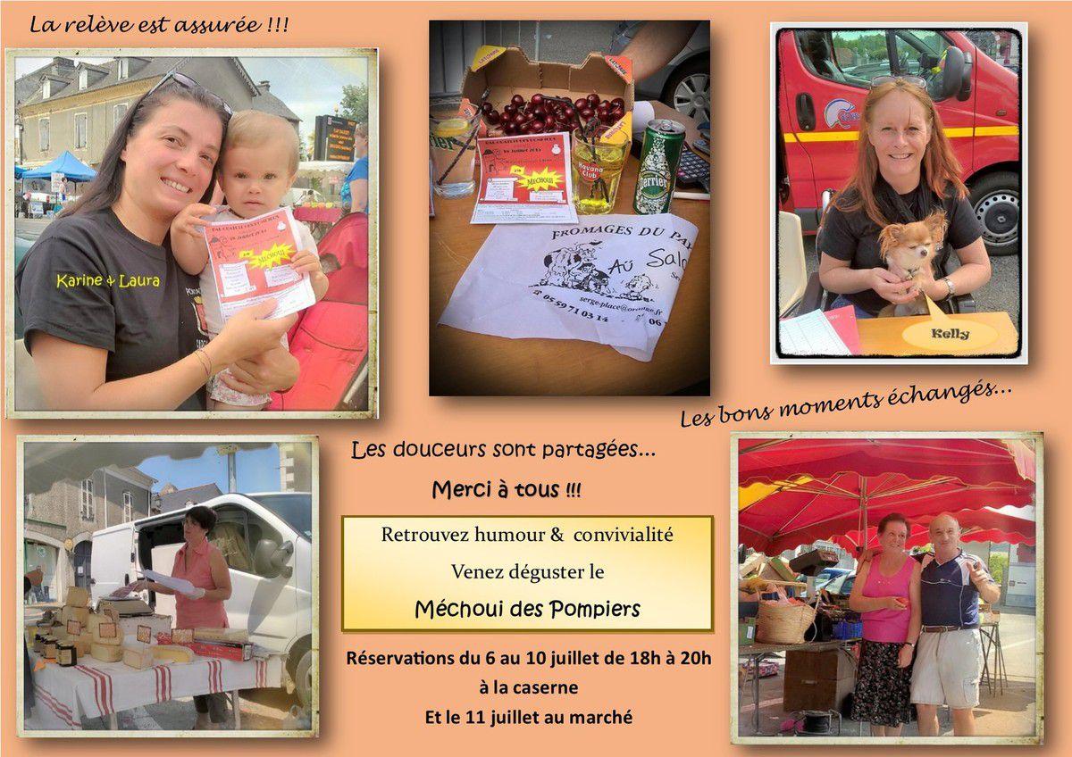 Le 4 juillet 2015 au marché de Pontacq