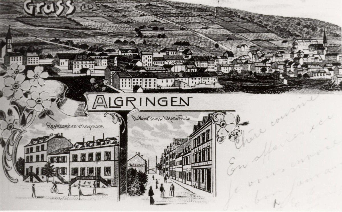 ALGRANGE: Vues générales au début 1900