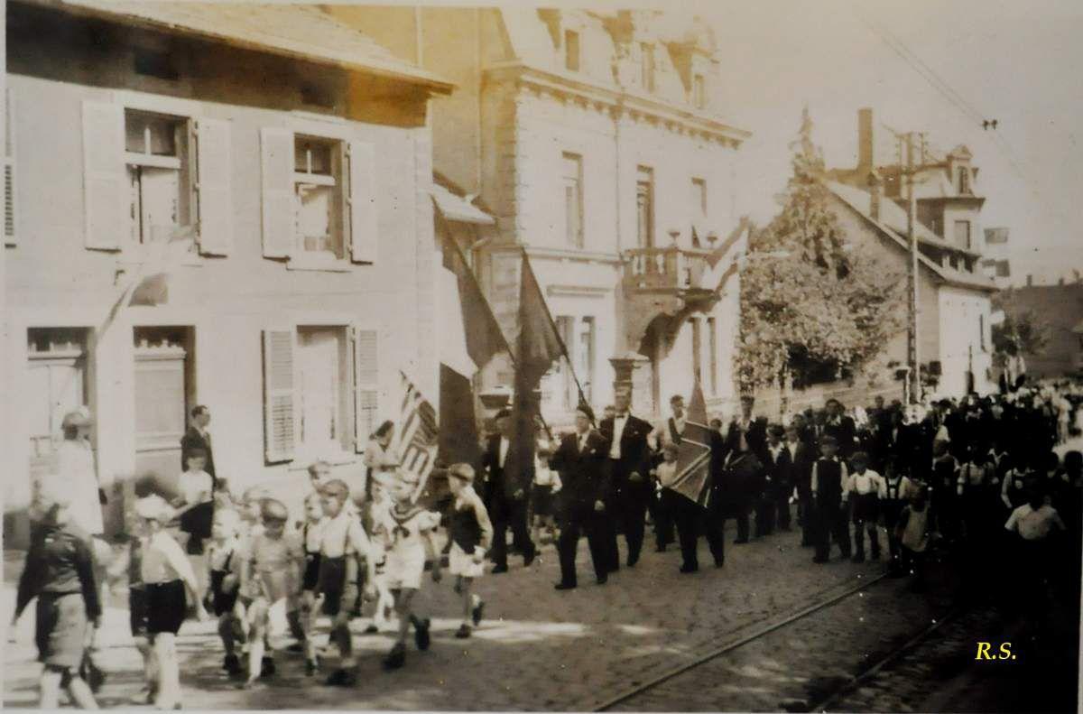 Célébration du 14 juillet 1945 à Algrange