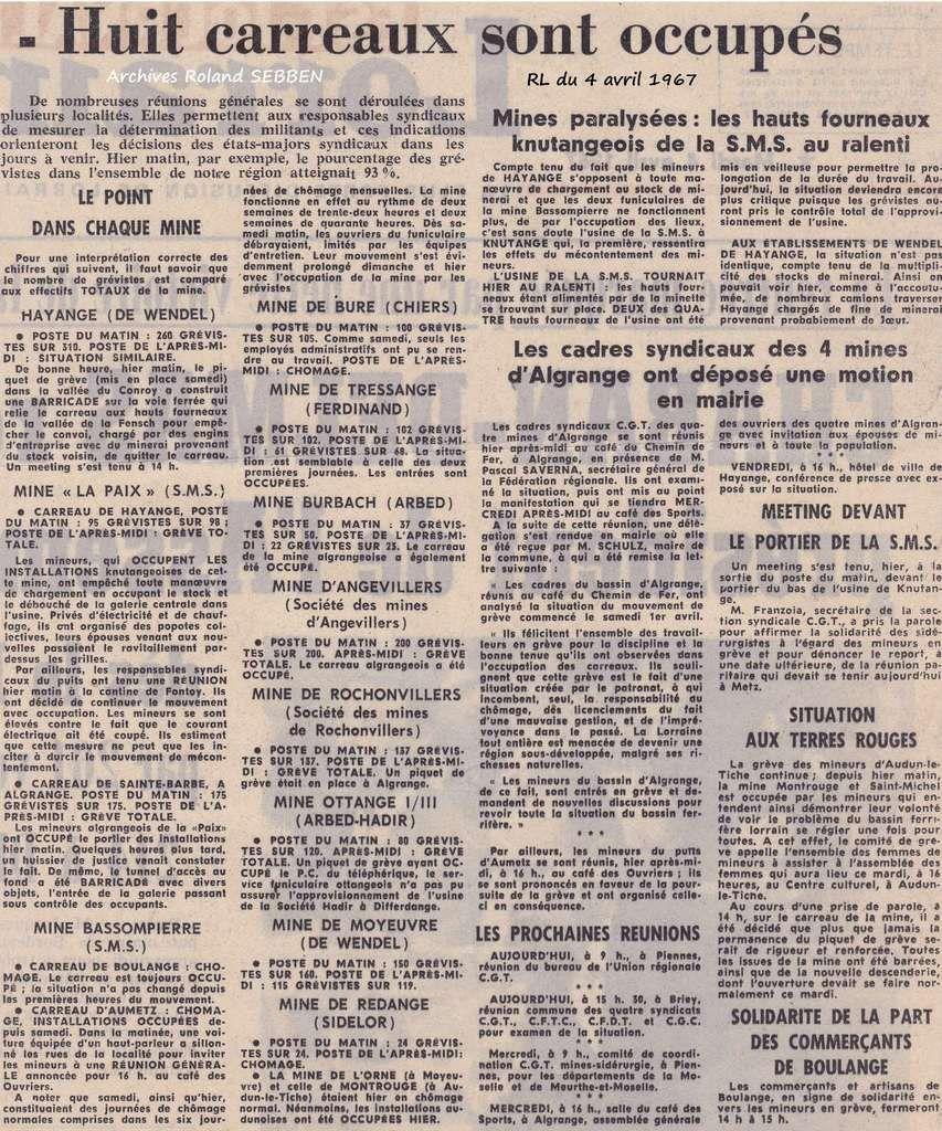 Article du Républicain Lorrain du 4 avril 1967