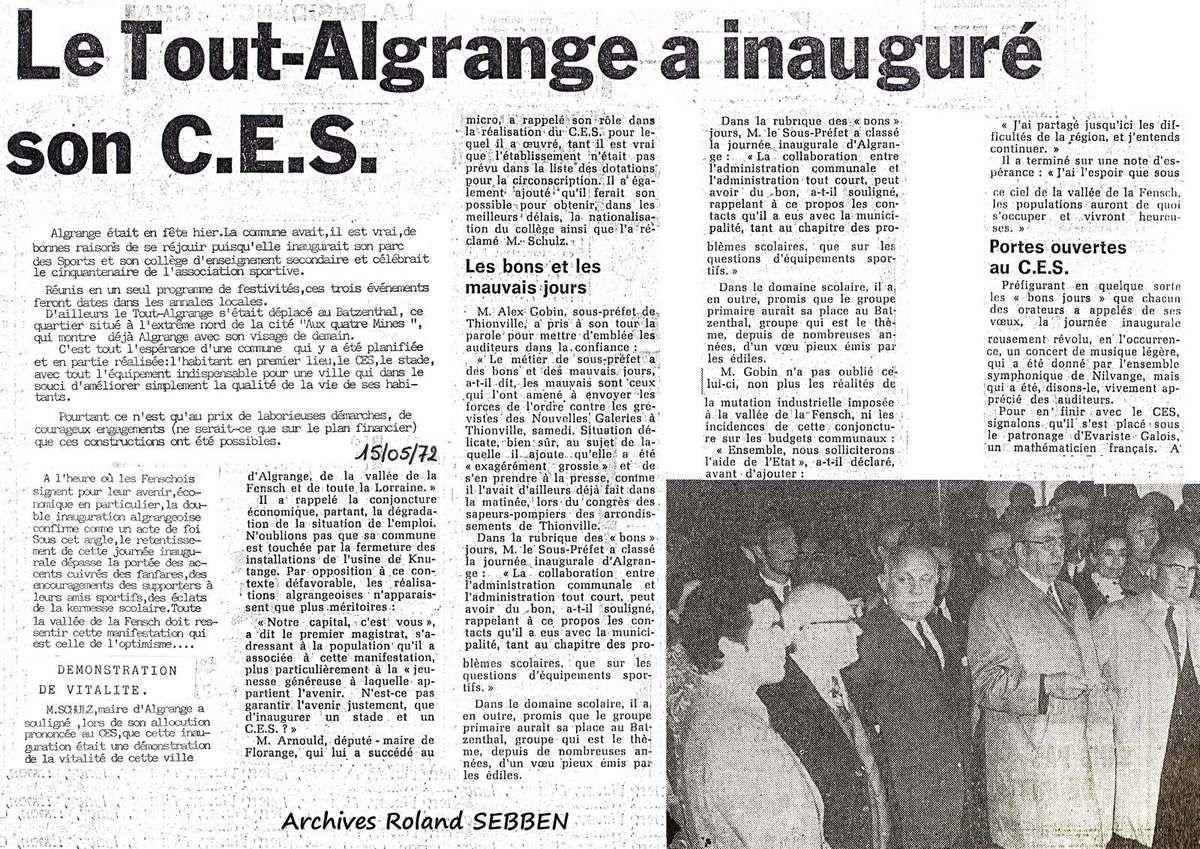 Articles du Républicain Lorrain du 15 mai 1972