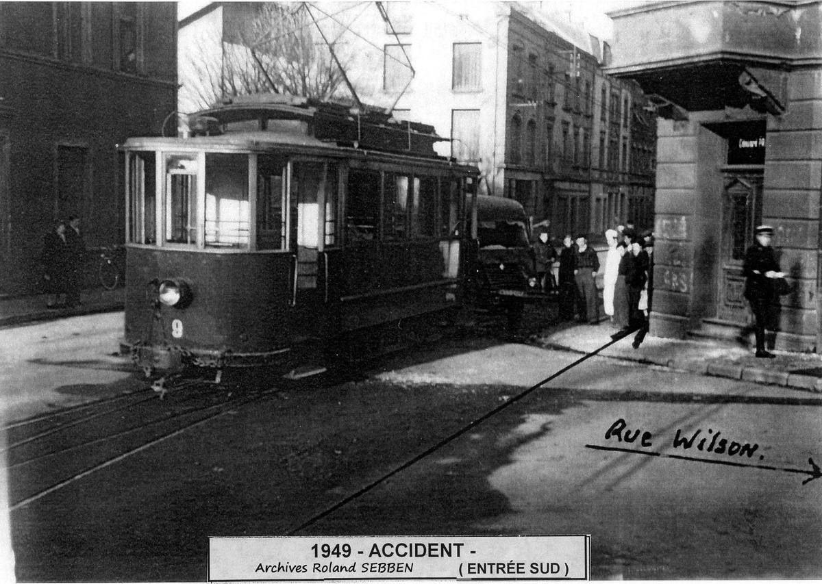 ALGRANGE: Accident de tramway en 1949