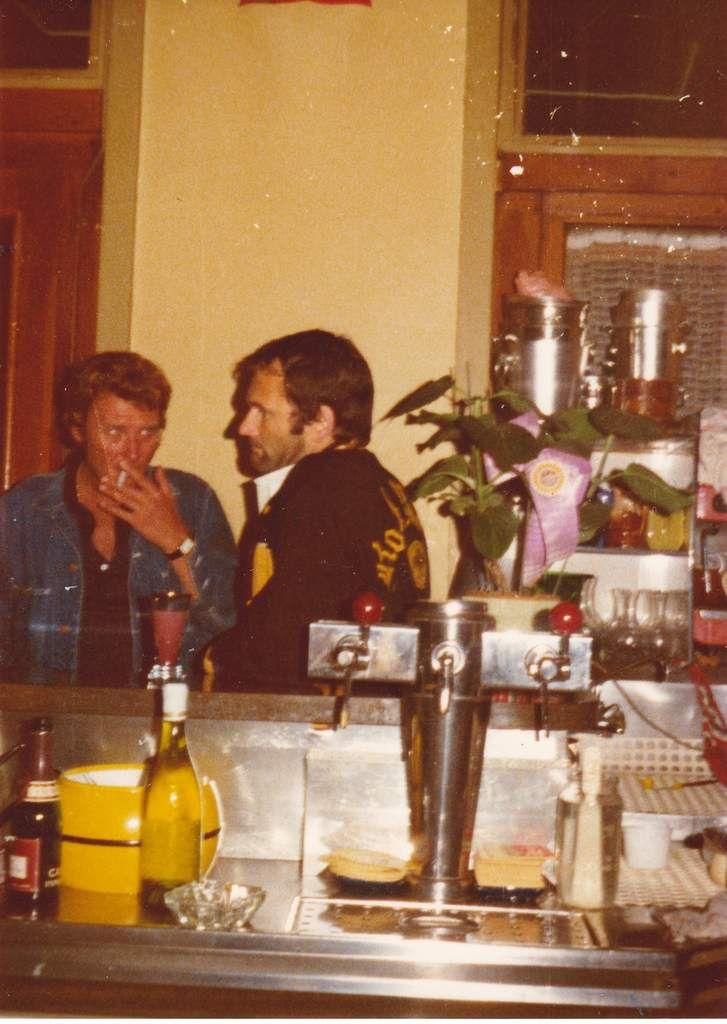 1975 à Lyon avec Johnny Hallyday