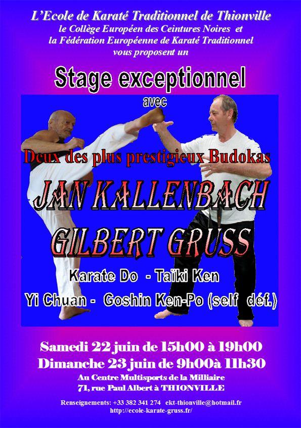 Gilbert  Nicolas GRUSS un karatéka hors pair originaire d'Algrange - 1943-2016