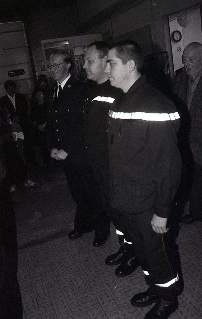 Retraite, médailles en 2000, chez les sapeurs-pompiers à Algrange