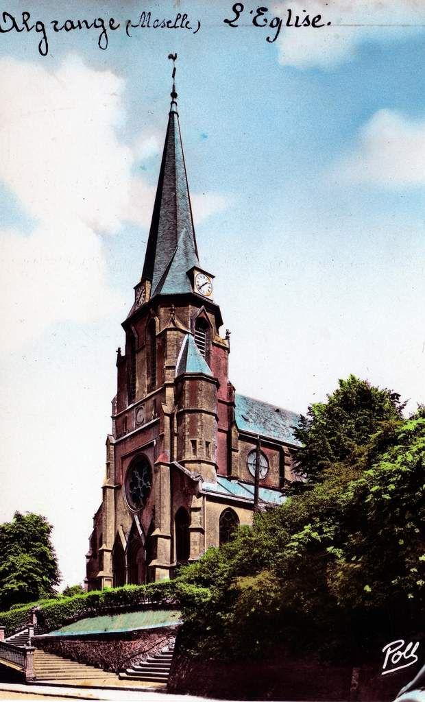 N° 72 et 74 rue Clemenceau à Algrange - Eglise - Jardin