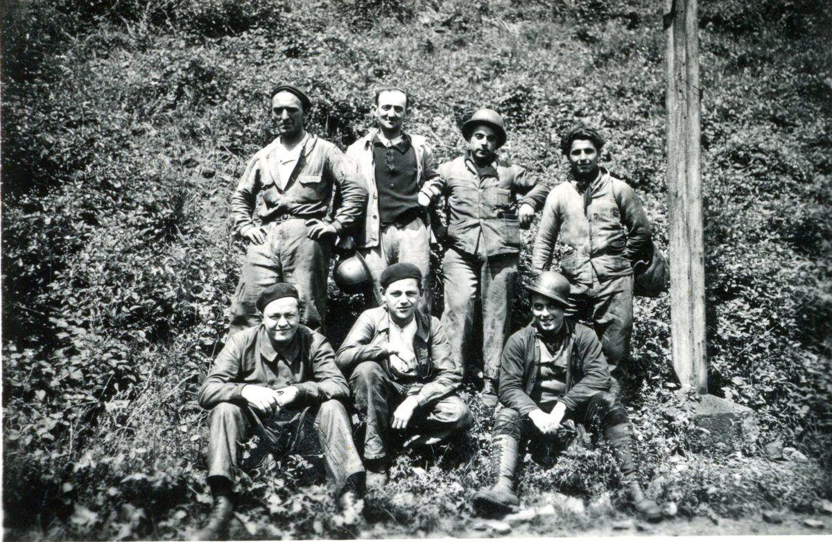Groupes de mineurs de fer des 4 mines principales d'Algrange