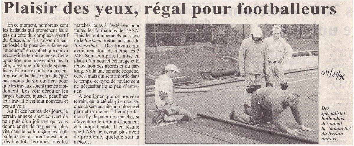 Articles du RL du 4 novembre 1996