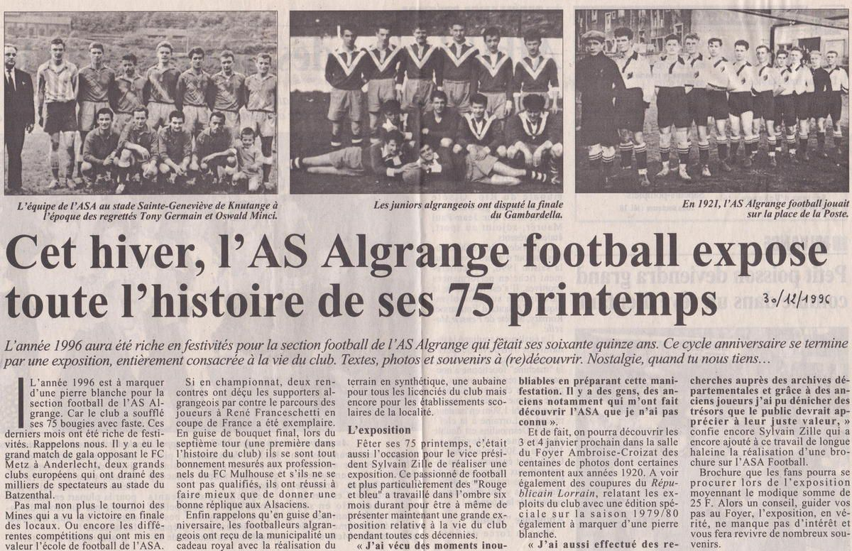 Le synthétique du terrain de football annexe de l'A.S.A. 1996 - 2016