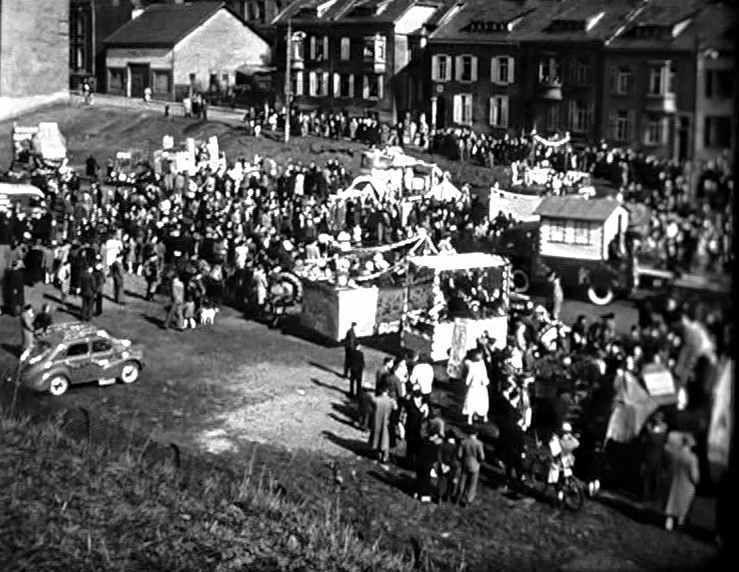 Défilés du Carnaval entre 1950 et 1955 à Algrange