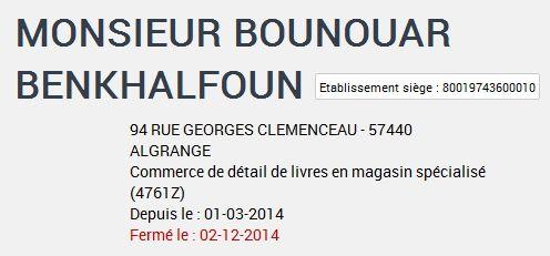 N° 94 rue Clemenceau à Algrange - Tabac - Cycles - Chaussures - Téléphonie - Immobilier......