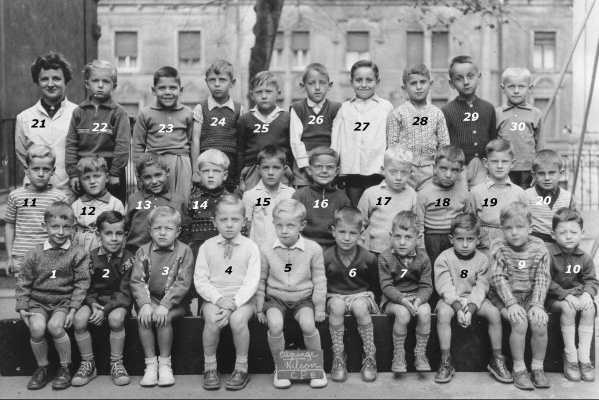 Année scolaire 1959 - 1960