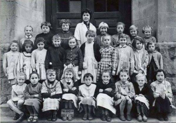 Année scolaire 1958-1959 classe de Cours Elémentaire 2ème année (filles)