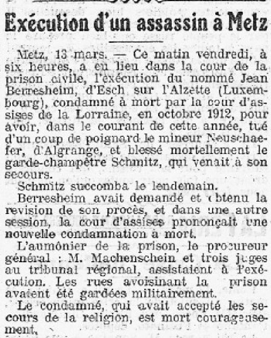 "Articles du Journal "" LA PRESSE "" du 14 mars 1914 (Source BNF)"