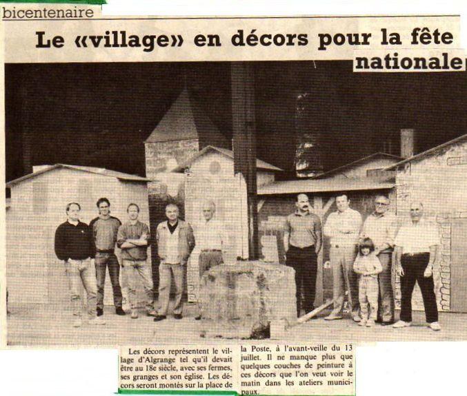 Fête du Bi-centenaire de la Révolution française de 1789 à Algrange