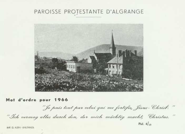 La paroisse protestante d'Algrange - Du retour à la France (1918) à nos jours