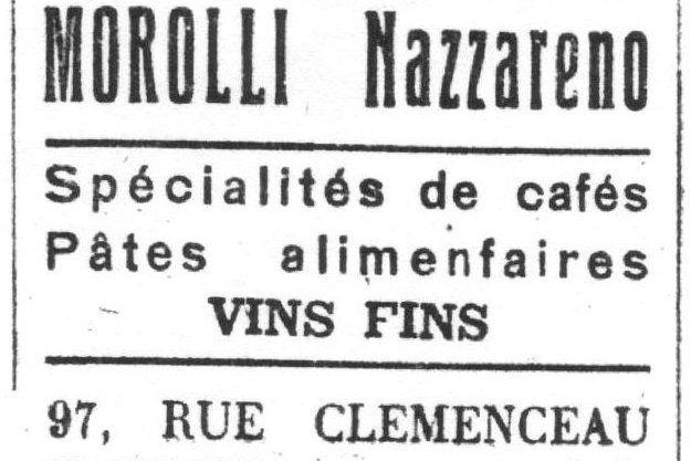 N° 97 rue Clemenceau à Algrange - Habillement - Epicerie - Quincaillerie - Bibliothèque - Assurances - Vidéo -