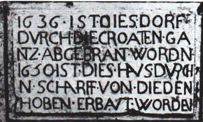 La pierre dite des Croates à Algrange