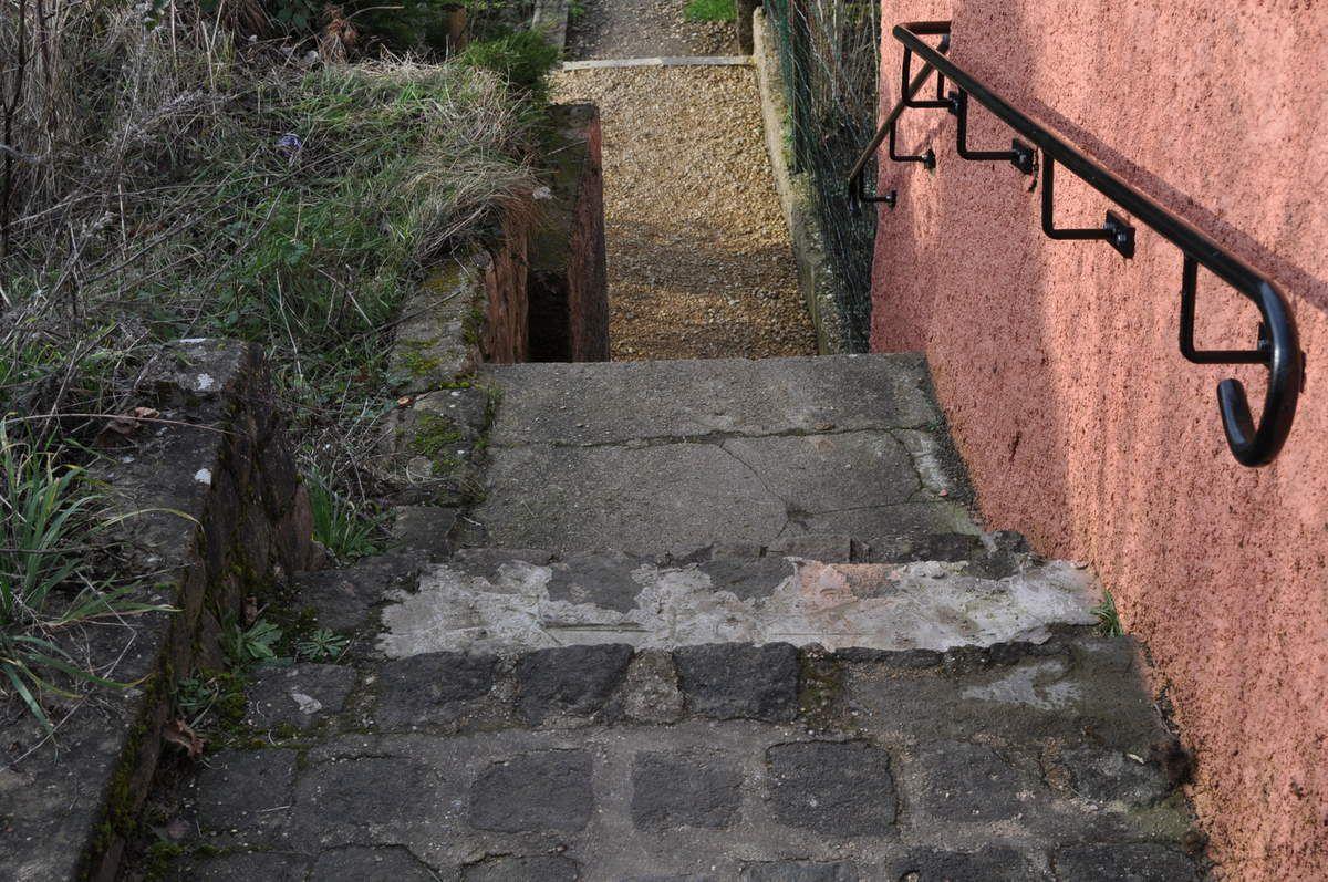 Passage entre la rue Jeanne d'Arc et la rue de Verdun à Algrange...