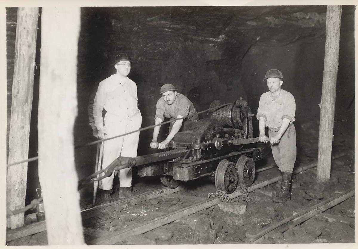 Le boisage dans les mines de fer d'Algrange