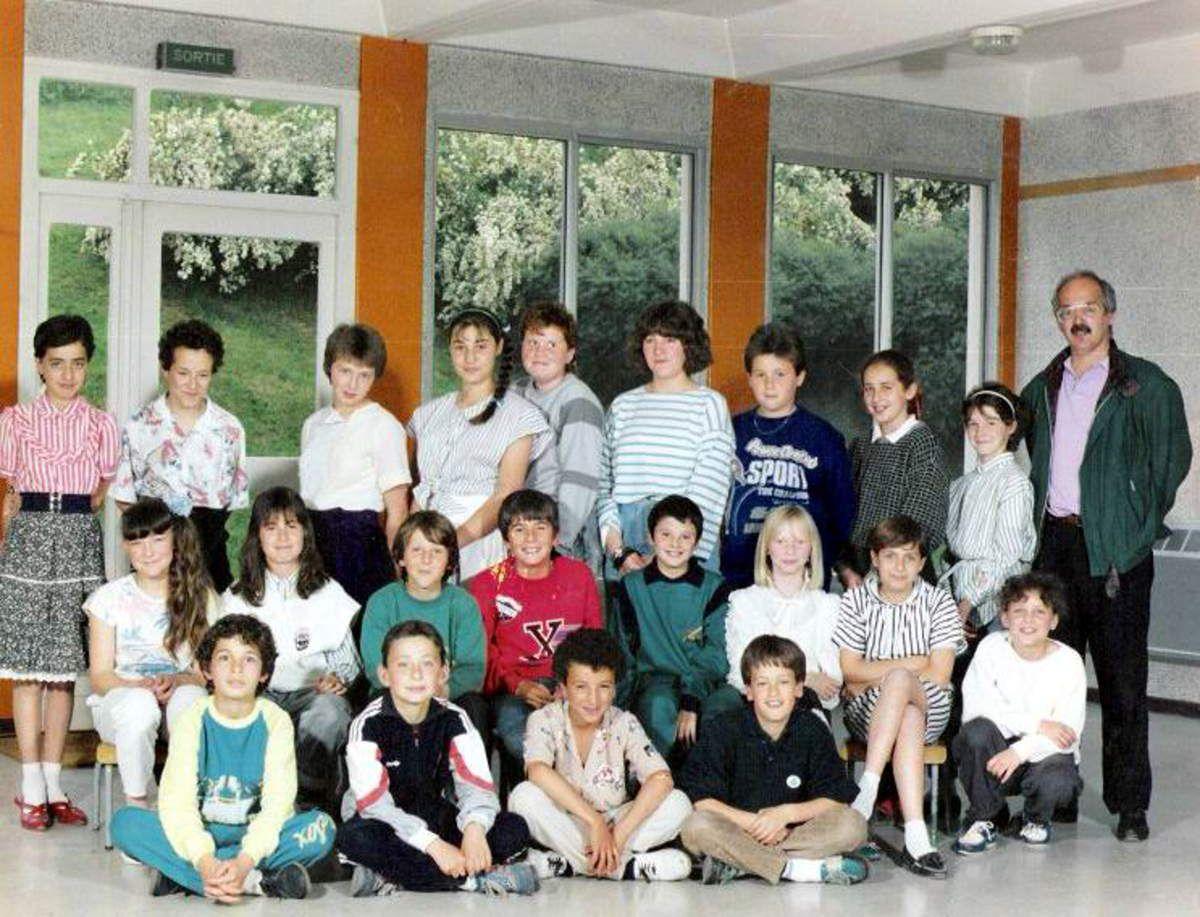 1986 - 1987 Cours Moyen 2ème année avec M. GORI