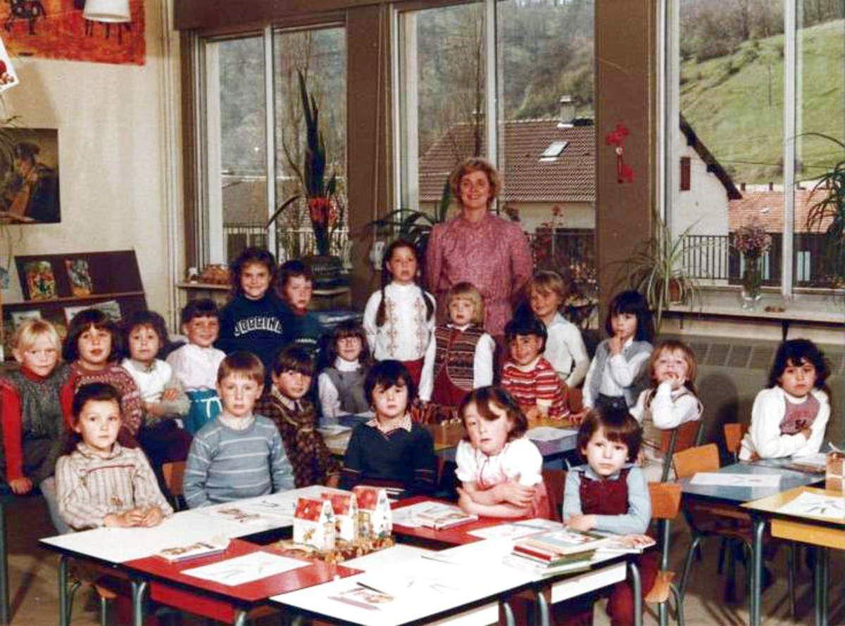 1980 - 1981 Maternelle avec Me PRAOUTINE